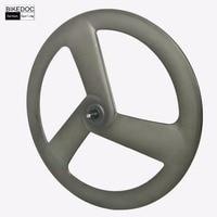 Stiff Carbon 3 Spoke Wheel 700c Ruedas Carbono Made In China Bicycle Tri Spoke Wheel For