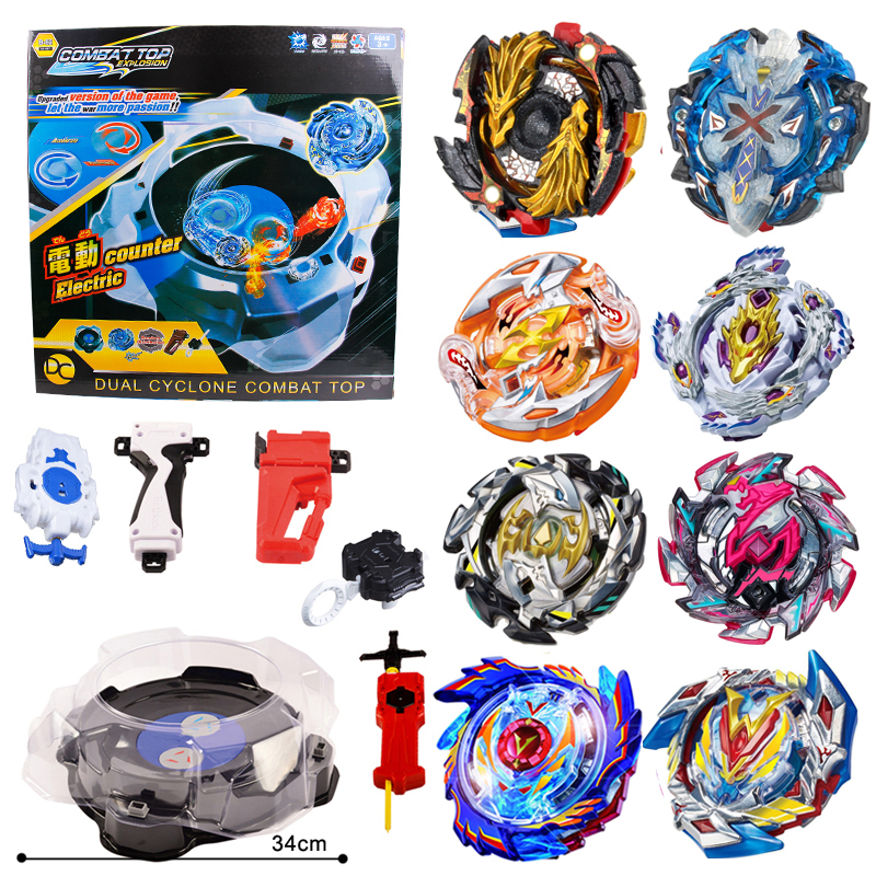 luminous beyblade burst beyblade toys glowing in the dark metal spinning top bayblade gyro launcher kids toys for children sales 8pcs/set Gyro Disk Launcher Metal Beyblade Bayblade Burst Combat Toys Arena Gyroscope Classic Hobbies Spinning Top Bey Blade