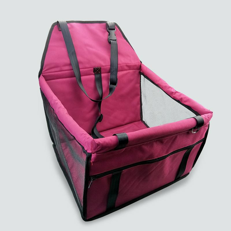 Top quality Foldable pet carrier dog bag for small dogs Waterproof Safety Front Back Seat Dog Cat Car Hammock Carrier Basket (6)