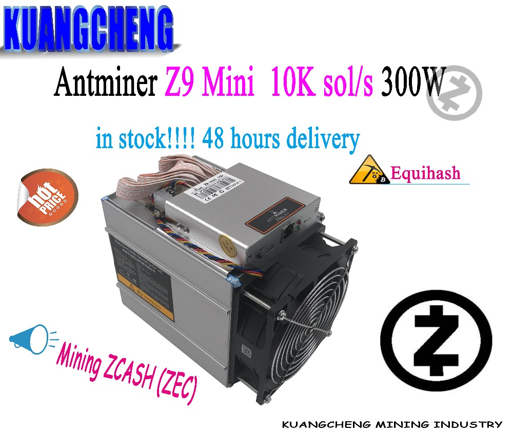 KUANGCHENG 80-90% nouveau Antminer Z9 mini 10k sol/s Z9 mineur pas de psu ASIC Equihash machine minière ZCASH peut être overclocké à 12 K/S