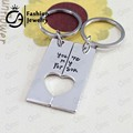 You are my Person Dog Tag Cut Out Heart KeyChain Teacher Gife Jewelry 20set/Lot #LN1146