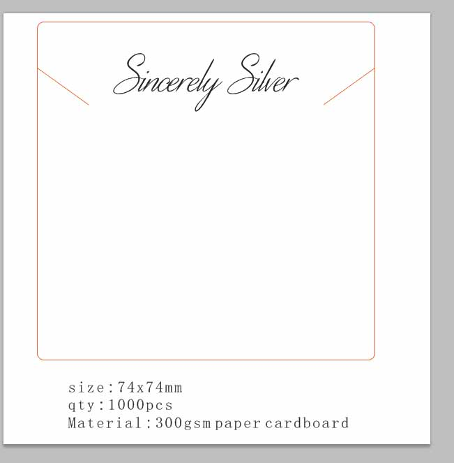 74*74mm Custom Logo Jewelry Necklace Display Card Personalized Logo 300gsm White Jewelry Products Cards 1000pcs