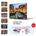 Printed VENICE NIGHT BRIDGE Oil Painting Cover Case For Macbook Air 11 12 13.3 Pro 13 15 Retina 15 Hard Protective Shell
