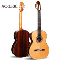 Professional Handmade 39 Inch Full Solid Acoustic Classical Guitar With Cedar Top Solid Rosewood Body Original