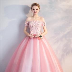 Image 5 - Quinceanera Jurken Nieuwe Prom Party Korte Mouwen Uit De Schouder Baljurk Party Prom Formele Homecoming Gown Plus Size