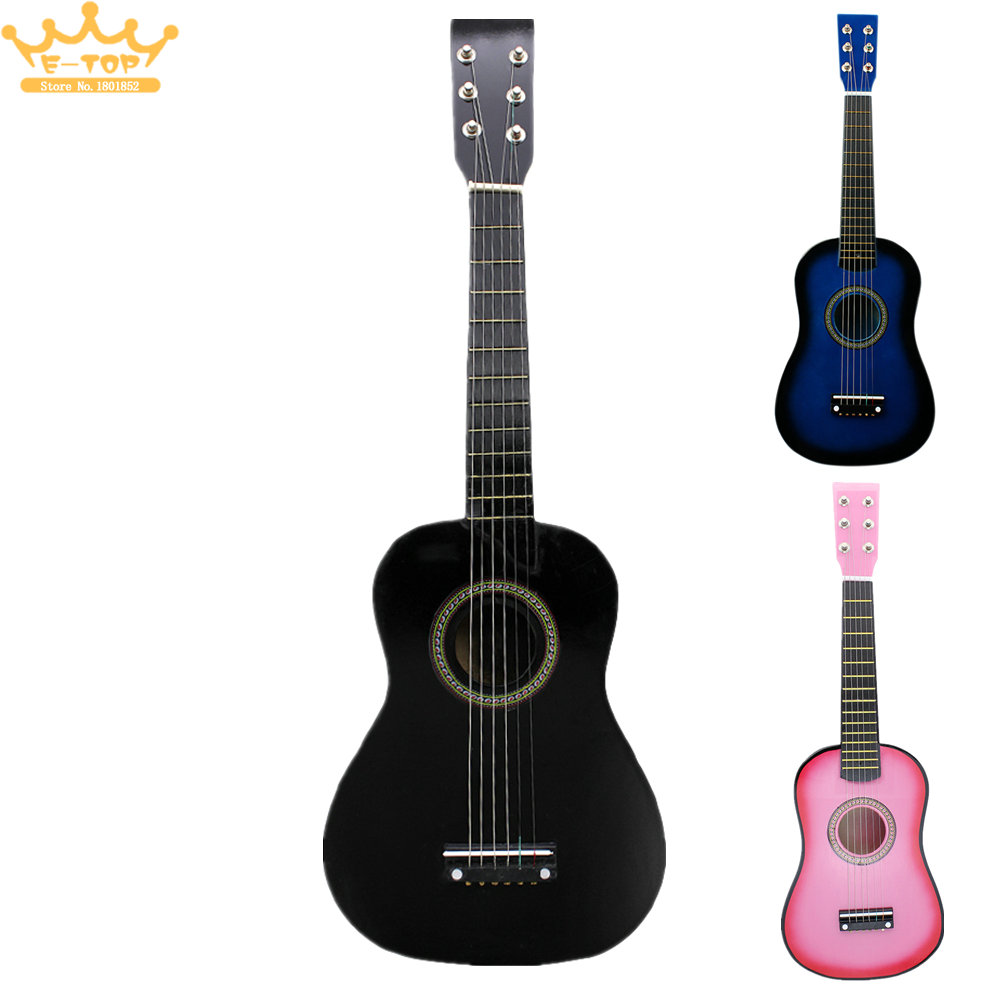 23inch Black Basswood Acoustic Guitar With Guitar Pick Wire Strings savarez 510 cantiga series alliance cantiga normal high tension classical guitar strings full set 510arj