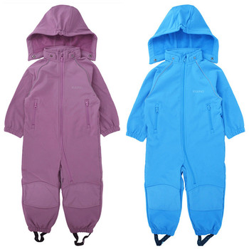 Soft shell baby jumpsuit boy girl jumpsuit with foot belt jumpsuit to keep warm фото