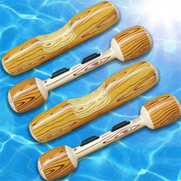 4 PCS Floating Row, Boat Raft Collision Wood Grain Pineapple Unicorn Inflatable Sports Pool Party Water Toys