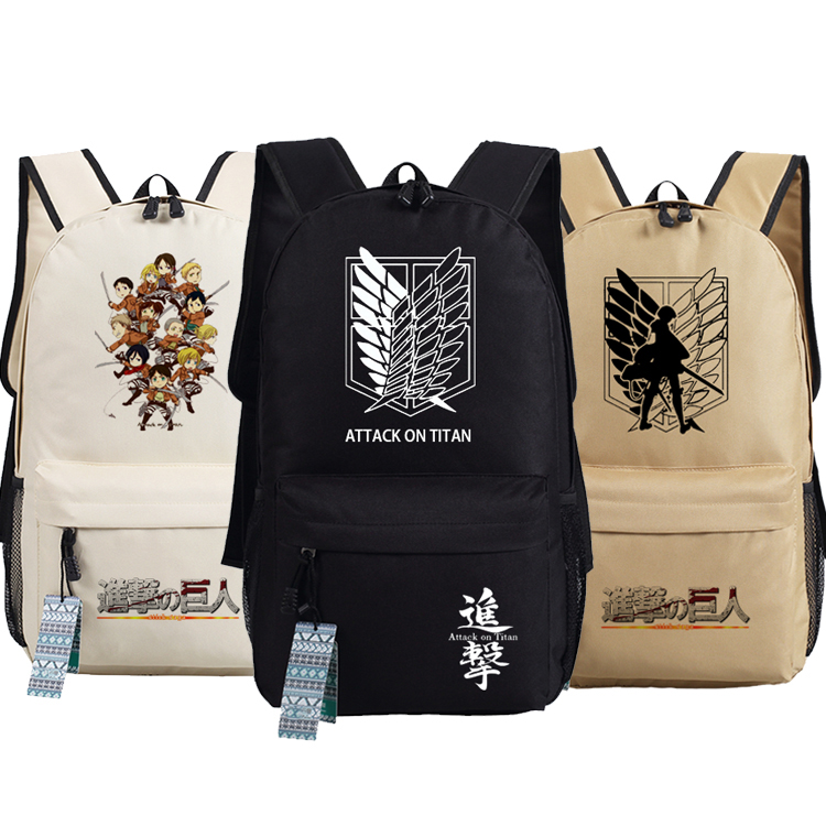 New Attack on Titan Backpack Anime Jiyuu no Tsubasa Eren Jaeger oxford Schoolbags Fashion Unisex Travel Bag все цены