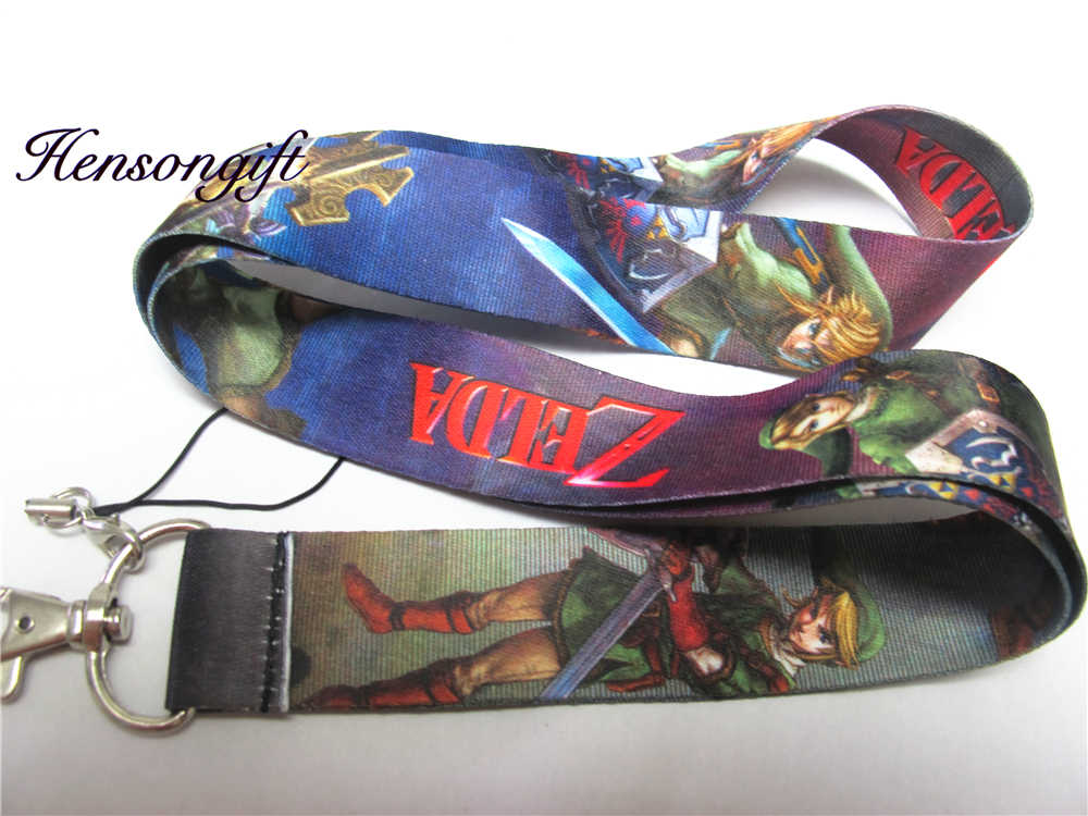 Hensongift una pieza de Zelda japonés principales de anime Lanyard ID Badge soportes teléfono cuello correas