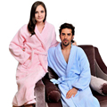 Cotton  men bathrobe plus size XL pajamas women blanket towel nightgown sleepwear girls thicken lovers long soft winter white