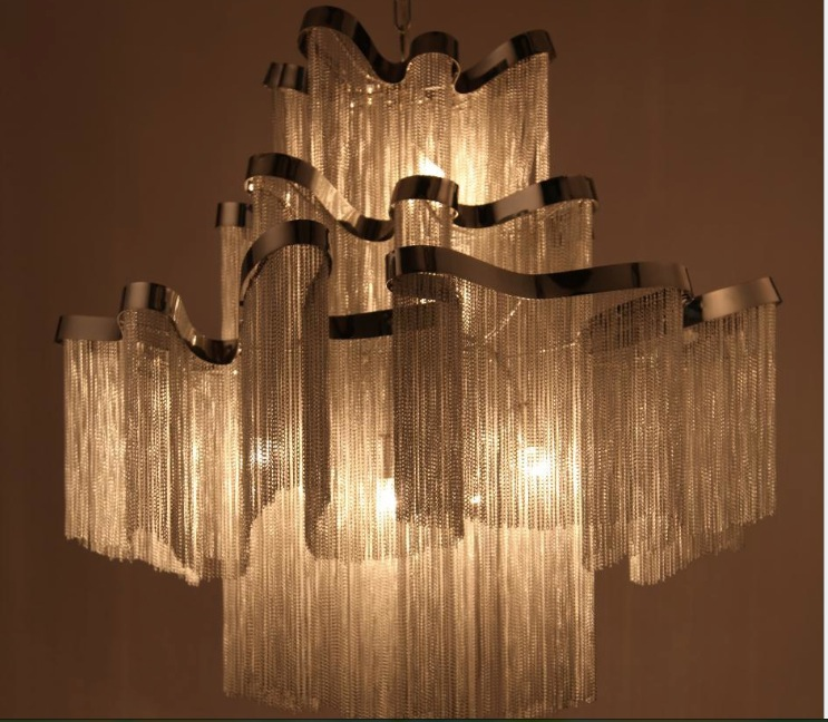 Newly French Empire Chain Chandelier Light Fixture Long Hanging Suspension Re Lamp In Pendant Lights From Lighting On