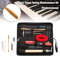 13Pcs Piano Tuning Maintenance Tool Kits Wrench Hammer Screwdriver with Case For Piano Musical Instruments Parts Accessories