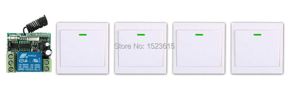 все цены на  New digital Remote Control Switch DC12V Receiver 4*Wall Transmitter Wireless Power Switch 315MHZ Radio Controlled Switch Relay  онлайн