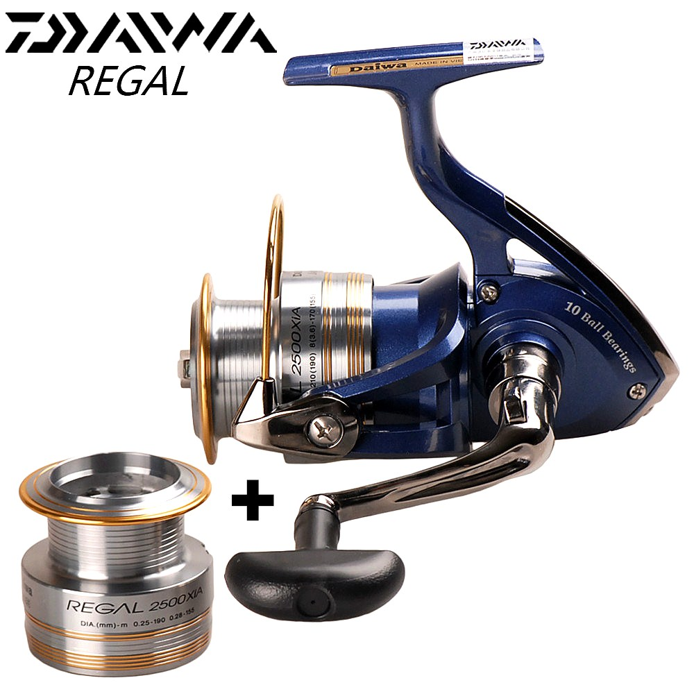 Original DAIWA REGAL Spinning Angeln Reel + Ersatz Spool 2000XIA 2500XIA 3000XIA 4000XIA Angeln Reel Spinning Molinete Pesca