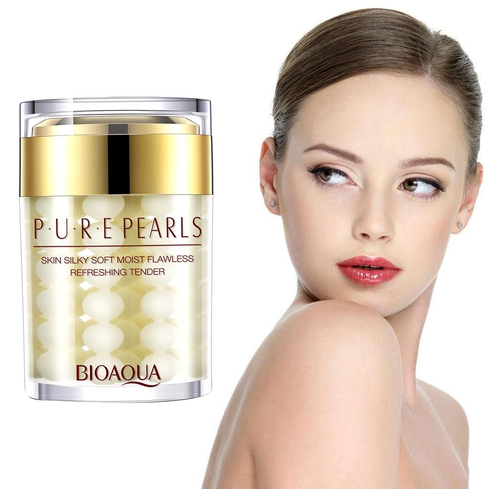Drop Ship Pearls Face Cream Day & Night Cream Moisturizer Face Care Whitening Anti Wrinkle Aging Facial Cream Skin Care TSLM1