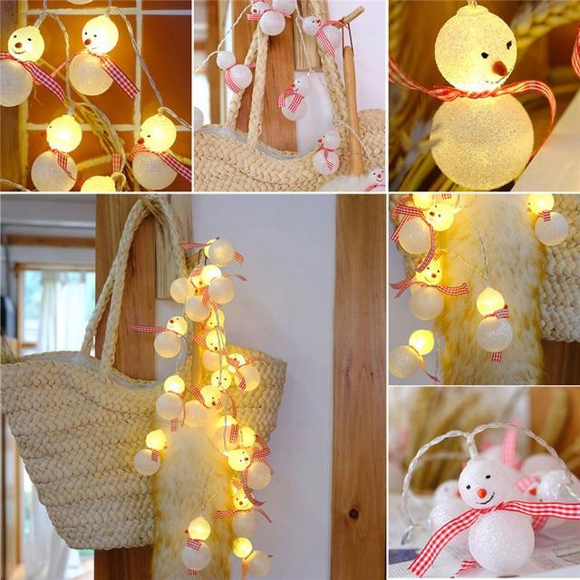 Meters Diy Wedding Decoration  Leds Mini Lamp Snowman Pattern Creative Lighting Chains Bedroom