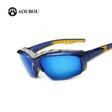 AOUBOU Marca Hombres Nuevas gafas de Sol Polarizadas Medio Capítulo Plástico Gollge Antirreflejos UV400 Arena Gafas de Seguridad gafas de sol 6207