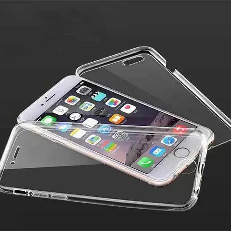 Étui pour iphone 7 Plus SE 5 s 6 6 s 8 X XR XS MAX Cover 360 couverture en Silicone transparent pour Huawei P30 Pro P20 Lite P10 Mate 20 10