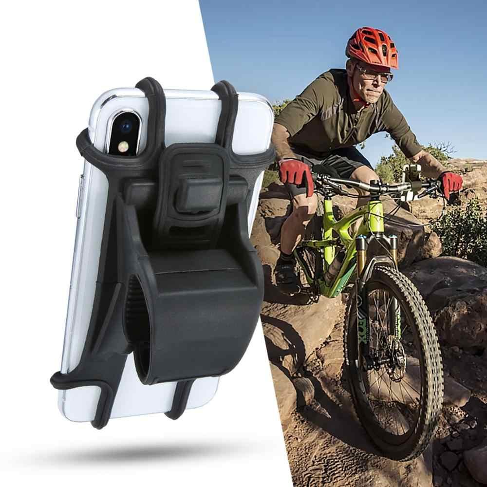 จักรยานโทรศัพท์ผู้ถือซิลิโคนดึงปุ่ม Anti-shock โทรศัพท์ผู้ถือ Mount Bracket Fork สำหรับผู้ถือจักรยานโทรศัพท์