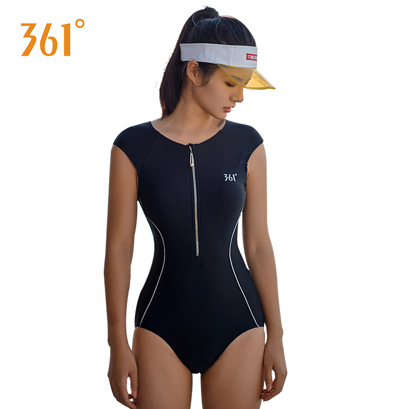361 Women Swimwear Black Sexy One Piece Swimsuit Push Up Tight Triangle Sport Competitive Swimsuit Lady Pool Beach Bathing Suit(China)