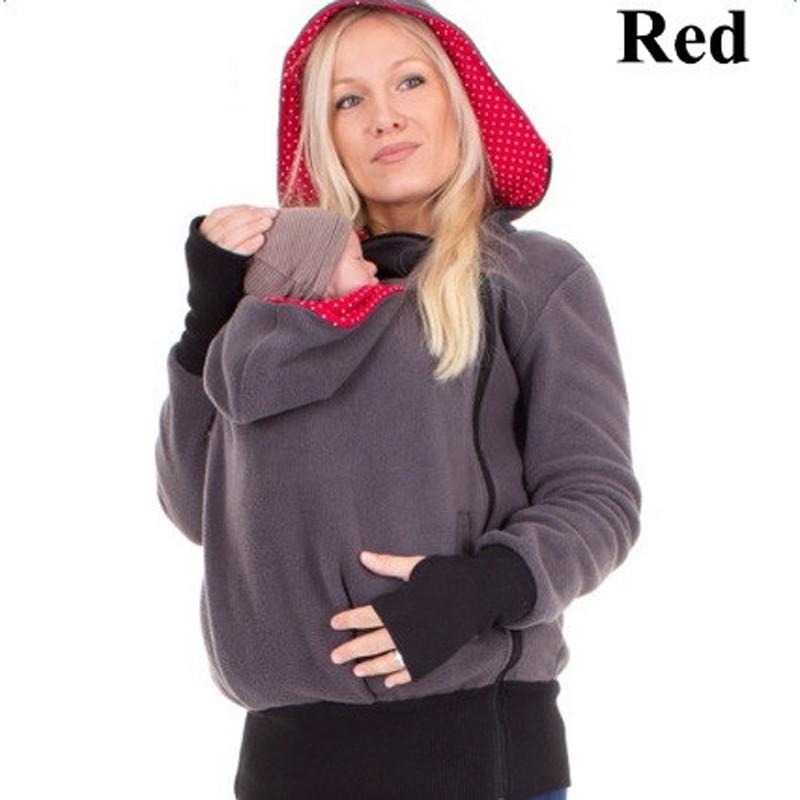 5feca5eb5 Marca Engrosada Babywearing de Lana Coat Mujeres Sudadera Con ...