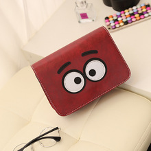 cute cartoon eyes mini flap bag big eyes Korean fashion female handbags shoulder bag small diagonal package  women messenger bag