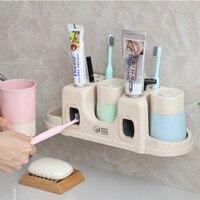 QuickDone 3 типа зубные пасты диспенсер + футляр для зубной щетки набор зубных щеток стеллаж для хранения Настенный пара Стиральная Ванная комна...