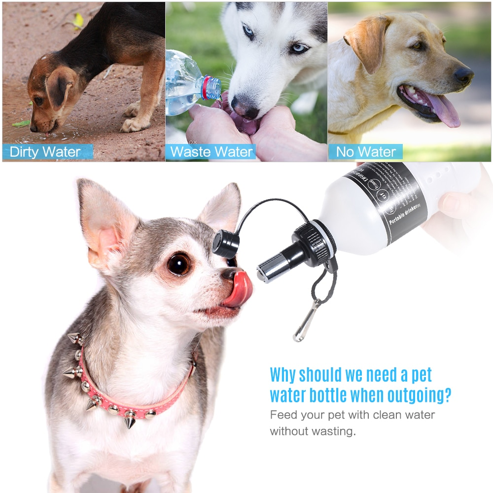 420 мл Щенок Собака Кошка Pet открытый бутылка для питьевой воды чайник диспенсер пластик