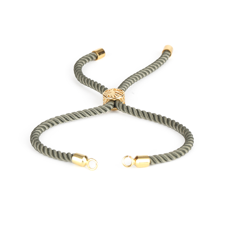 US $1 97 21% OFF|Gold Silver End Tree Of Life Flexible Rubber Clasp Lock  Charm Olive Green Lucky Knots Nylon Cord Thread For Bracelet Jewelry DIY-in