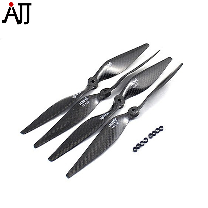 4Pairs Rctimer 1365 13x6.5'' Carbon Fiber Propellers CW CCW Props Carbon-1365 with Hole Adapter 8mm for DIY FPV Mulit-rotor Pro jmt 4pairs 17x5 5 3k carbon fiber propeller cw ccw 1755 cf props cons for hexacopter octocopter multi rotor ufo