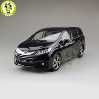 1/18 Honda MPV Odyssey Commercial vehicle Diecast Metal MPV Car SUV Model Toys Boy Girl Gift Collection Hobby Black