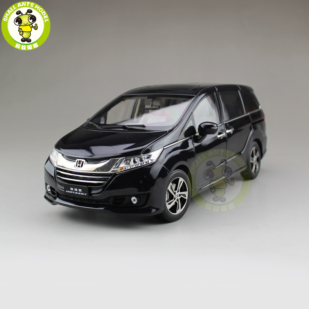 1/18 Honda MPV Odyssey Commercial vehicle Diecast Metal MPV Car SUV Model Toys Boy Girl Gift Collection Hobby Black 2015 new odyssey mpv origin 1 18 car model alloy fifth generation pearl white business car toy collection discast gift