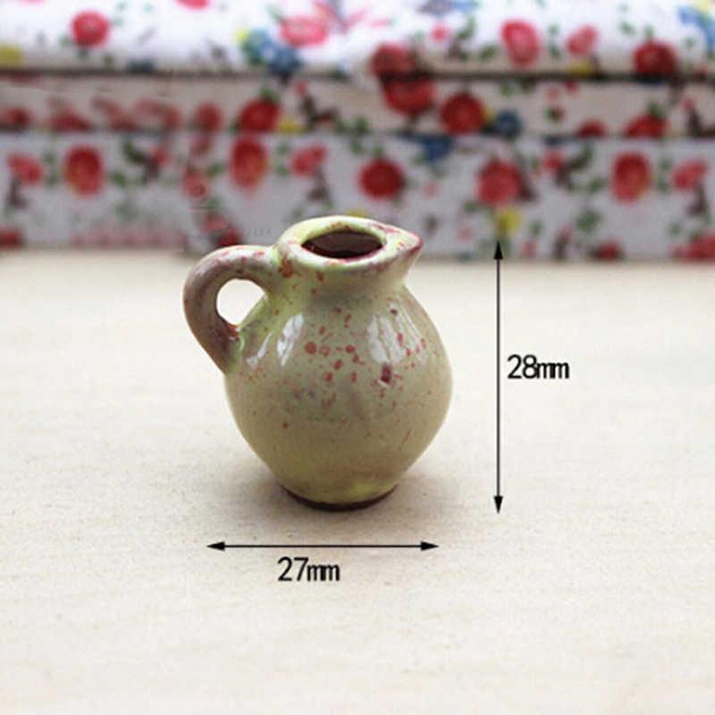 Миниатюры для кукольного домика 1:12 аксессуары декоративная миниатюрная фарфоровая миниатюрная кукольная мини керамическая ваза аксессуары