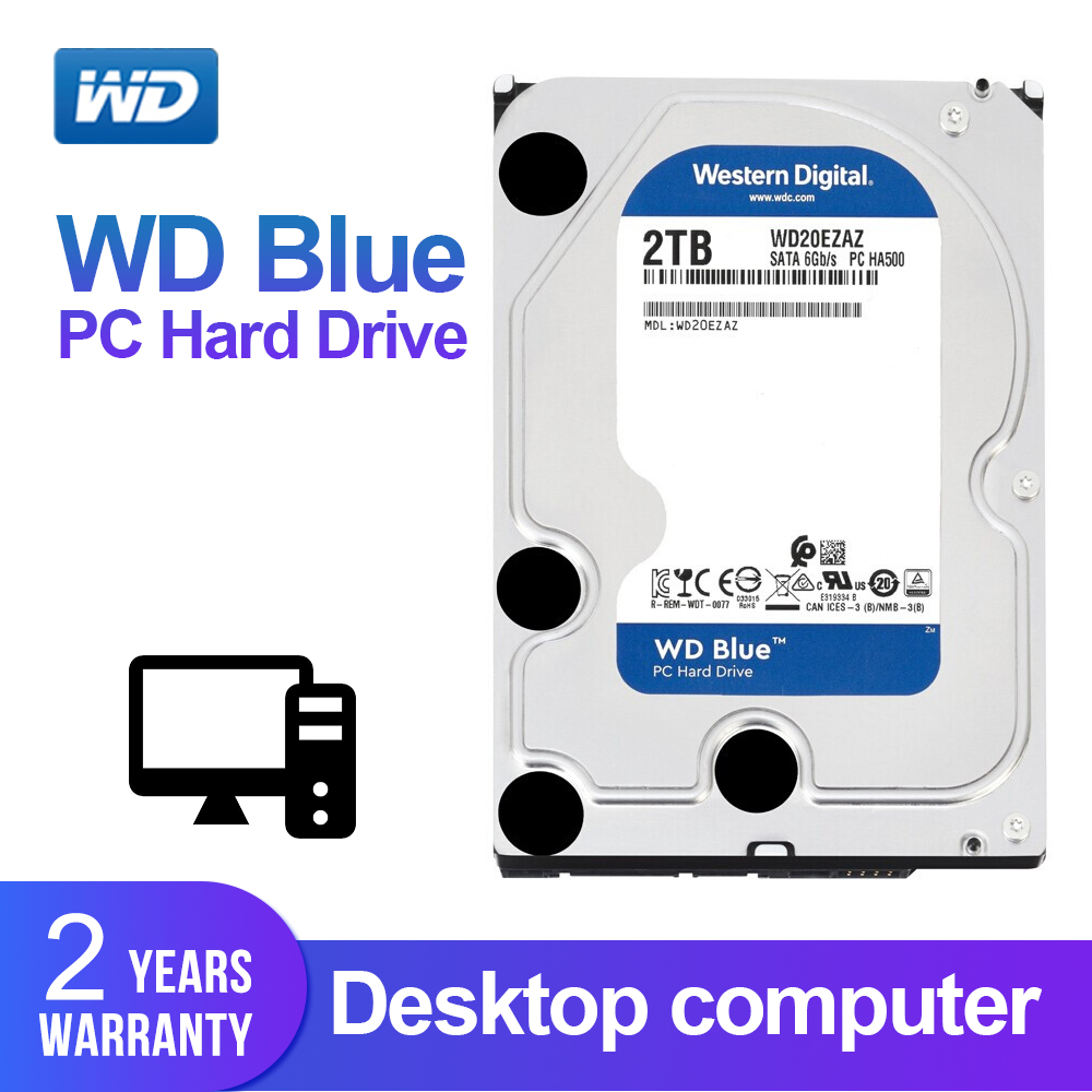 WD BLUE 2TB Desktop HDD 3.5 5400 RPM 256M Cache SATA III 6Gb/s Internal Hard Drive Disk for Desktop Computer WD20EZAZWD BLUE 2TB Desktop HDD 3.5 5400 RPM 256M Cache SATA III 6Gb/s Internal Hard Drive Disk for Desktop Computer WD20EZAZ