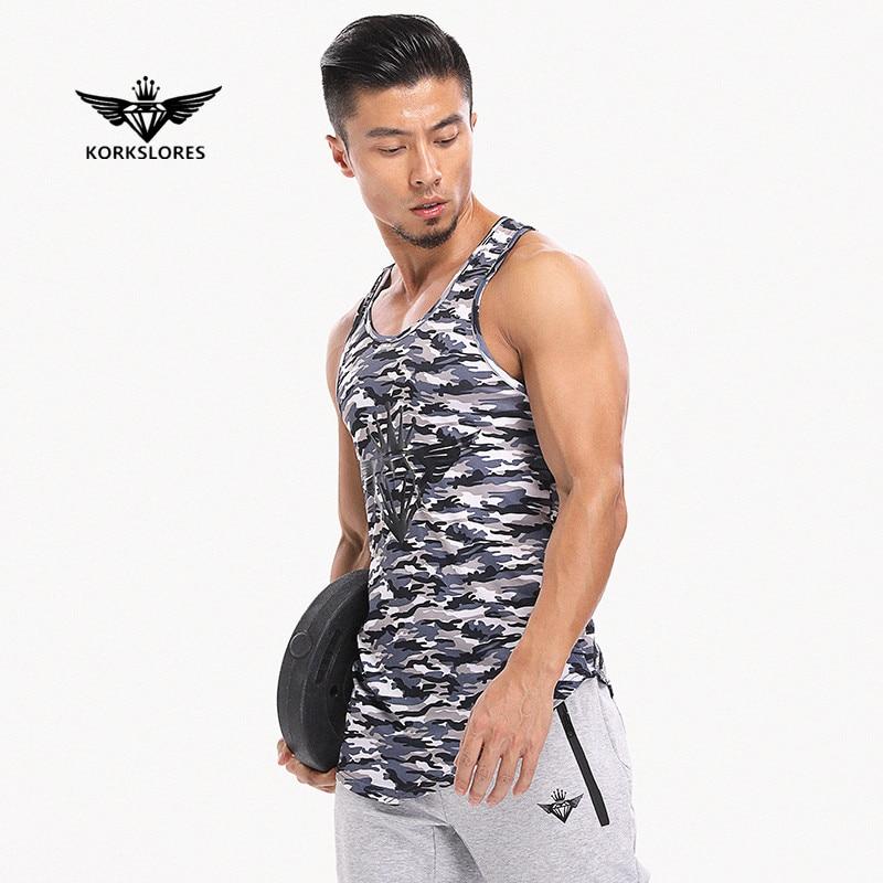 KORKSLORES 2017 New Camo   Tank     Top   Bodybuilding Fitness Bodybuilding Stringer   Tank     Top   Men Gyms Clothes Vest