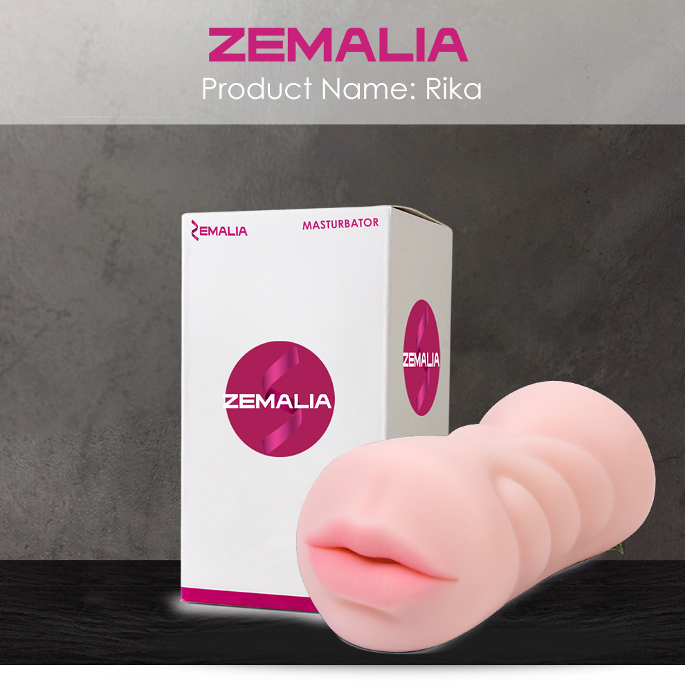 Zemalia Realistic Oral 3D Deep Throat with Tongue Teeth Maiden Artificial Vagina Male Masturbator  Pussy Oral Sex Toys for Men