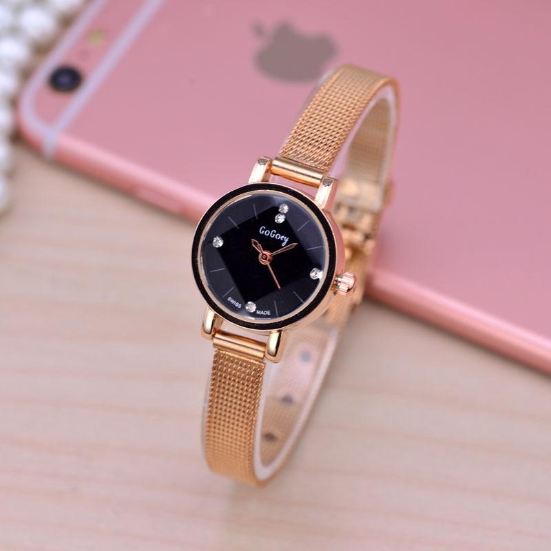 Fashion mini Stainless Steel Mesh Watch Women Top Brand Gold Silver Quartz Watch 2018 Casual ladies wrist watch for woman clock