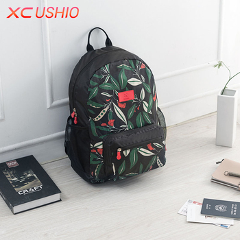 Floral Pattern Waterproof Travel Women Backpack Outdoor Men Backpack Bag School Backpack Large Capacity Shoulder Bag Organizer