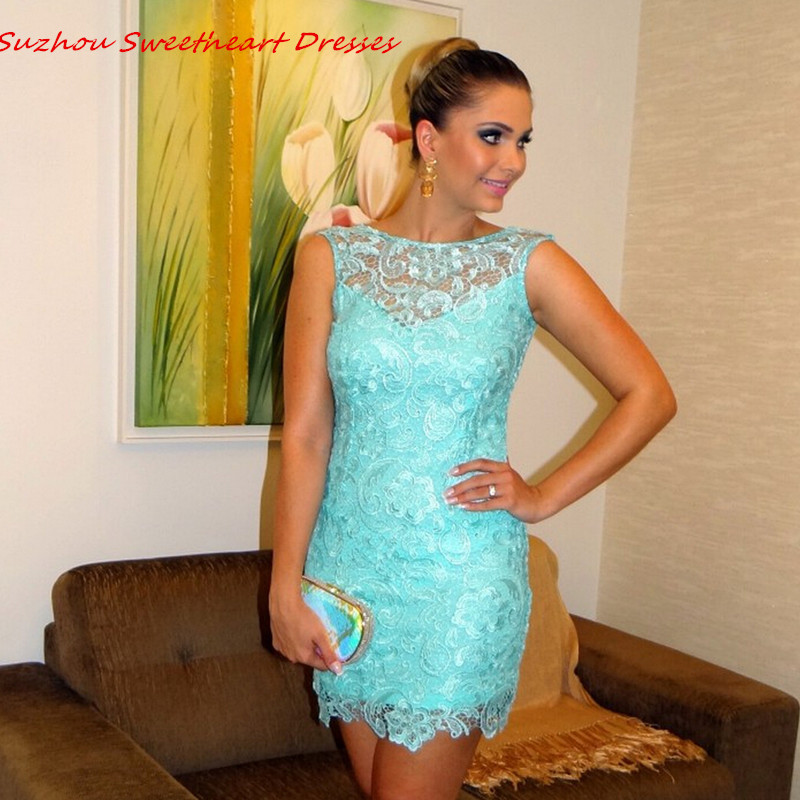 Popular Aqua Cocktail Dress-Buy Cheap Aqua Cocktail Dress lots ...