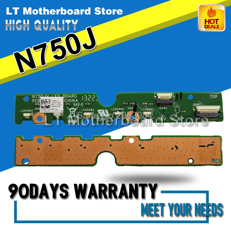Original For ASUS N750J N750JK N750JN N750JV N750JA Small Indicator Board LED Board Tested Well