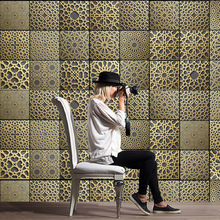 Moroccan tile stickers PVC retro living room bedroom wallpaper wall sticker kitchen oilproof bathroom waterproof