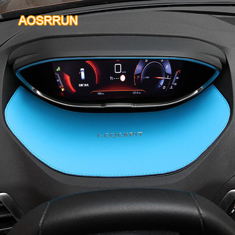 AOSRRUN The dashboard of the dashboard of the leather dashboard Covers Car accessories FOR