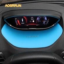 Aosrrun приборной панели кожа приборной панели Чехлы для мангала автомобильные аксессуары для Peugeot 5008 2017 4008 Тюнинг автомобилей