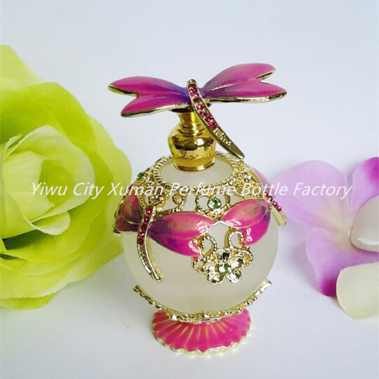 2258e0a01f72 US $13.17 |Perfume Bottle Retro Metal Empty Dragonfly Ball Round Beautiful  Adornment Crafts Travel Gift Makeup For Birthday Gift-in Refillable Bottles  ...