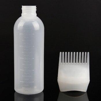 170ml Plastic Hair Dye Shampoo Bottle Applicator with Graduated  Brush Dispensing Kit Salon Hair Coloring Dyeing Styling Tools