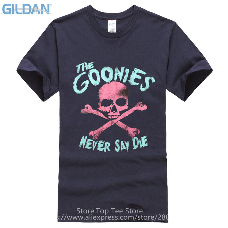 Cheap Funny T Shirts  MenS Short Sleeve The Goonies Skull Crew Neck
