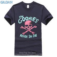 Cheap Funny T Shirts  MenS Short Sleeve The Goonies Skull Crew Neck