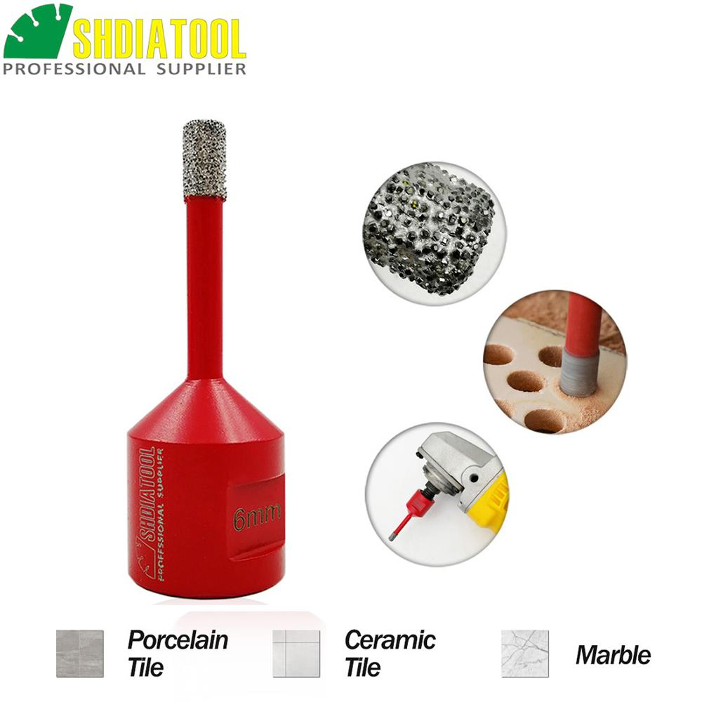 SHDIATOOL 1pc M14 Vacuum Brazed Diamond Drilling Core Bit Tile Drill Bit Marble Hole Saw Porcelain Drilling Bit Bell Saw Crown