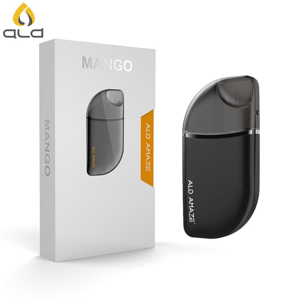 D'origine ALD Mangue kit de démarrage cigarette électronique 380 mAh batterie intégrée 2 ml Capacité cartouche cigarette électronique VS Justfog minifit
